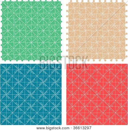 Seamless abstract pattern set for fabric and furniture