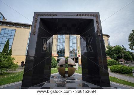 Brcko, Bosnia, May 6, 2017: Croatian War Memorial, Dedicated To The Croat Victims Of The Bosnian War