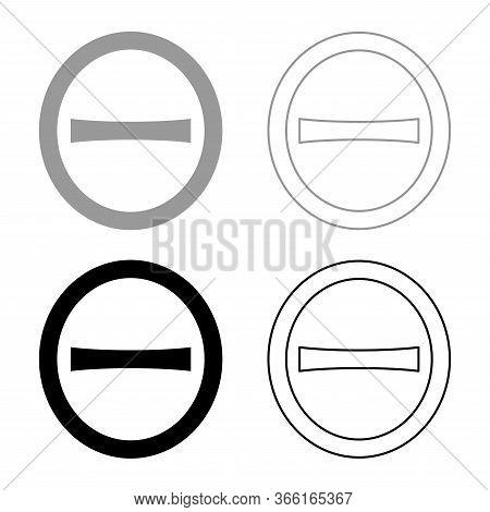 Theta Capital Greek Uppercase Letter Font Outline