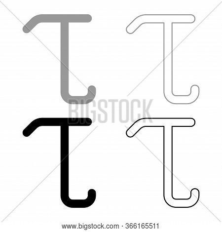 Tau Greek Small Letter Lowercase Font Outline
