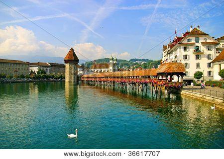 Kapellbr�cke Bridge in Lucerne Switzerland