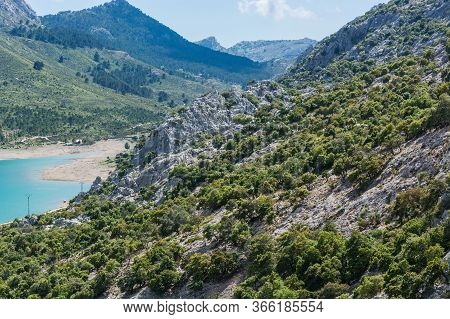 The Artificial-scale Cuber Reservoir In The Sierra De Tramuntana, Mallorca, Spain