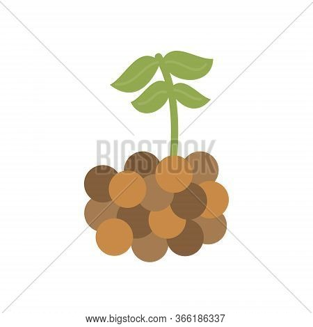 Lentil Vector Illustration Icon. Legume Lentil With Leaves. Isolated.