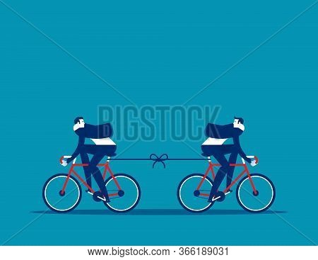 Two Bike Are Moving In The Opposite Direction. Planning And Strategy Concept