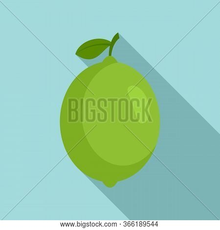 Whole Lime Icon. Flat Illustration Of Whole Lime Vector Icon For Web Design