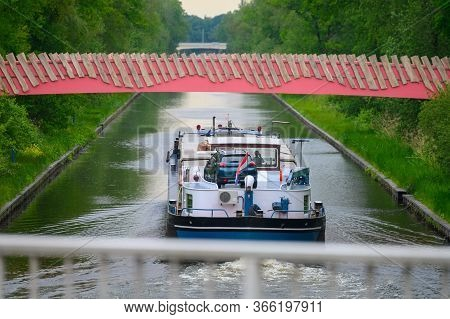 Industrial Waterways And Canals In Province North Brabant, Netherlands