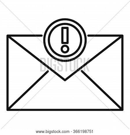 New Advice Email Icon. Outline New Advice Email Vector Icon For Web Design Isolated On White Backgro