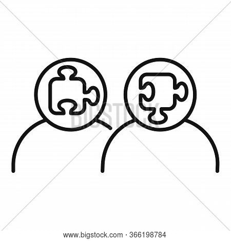 Puzzle Advice Icon. Outline Puzzle Advice Vector Icon For Web Design Isolated On White Background