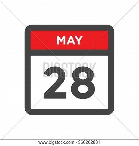 May 28 Calendar Icon - Day Of Month