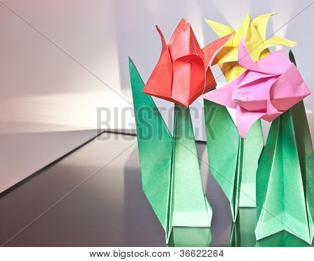 Tulip Origami Flower Artwork