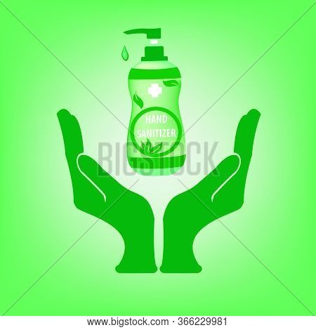 Hand Sanitizer,vector Hand Sanitizer Symbol Alcohol Bottle For Hand Sanitation Vector Concept Banner