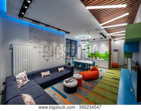 Living room and playground for children