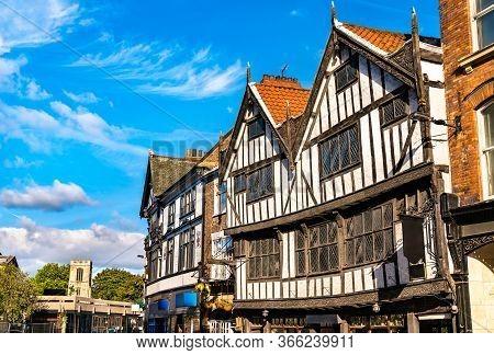 Traditional English Houses In York - England, Uk