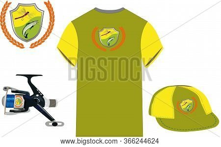 Reel Shirt And Sports Fisherman Hat Reel Shirt And Sports Fisherman Hat