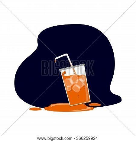 Drink Orange Juice Icon. Flat Illustration Of Drink Orange Juice Vector Icon For Web Design