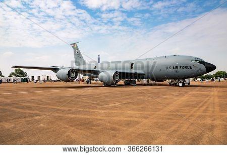 Fairford / United Kingdom - July 13, 2018: Us Air Force Boeing Kc-135 Stratotanker 61-0321 Tanker Pl