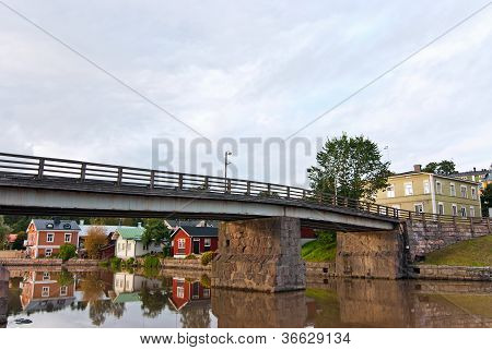 River In The City Of Porvoo. Finland.