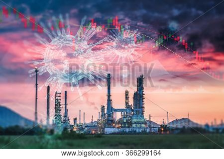 Coronavirus Impact Influence Oil And Gas Industry, Covid 19 Disease Epidemic Effect To Oil Refinery