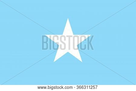 Somalia Flag Vector Graphic. Rectangle Somali Flag Illustration. Somalia Country Flag Is A Symbol Of