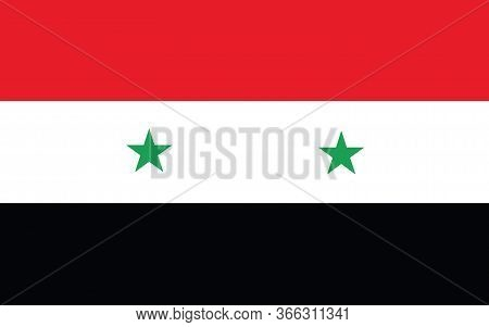 Syria Flag Vector Graphic. Rectangle Syrian Flag Illustration. Syria Country Flag Is A Symbol Of Fre