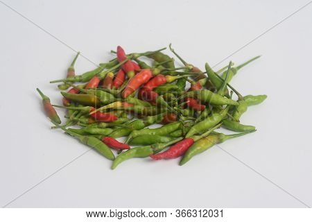 Chilli Padi, Bird's Eye Chilli, Bird Chilli, Thai Pepper Or Capsicum Annuum