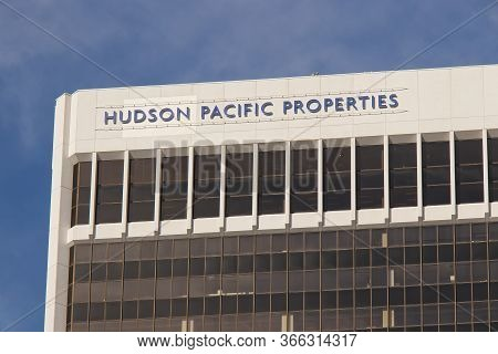 Vancouver, Canada - February 29, 2020: View Of Hudson Pacific Properties Tower In Downtown Vancouver