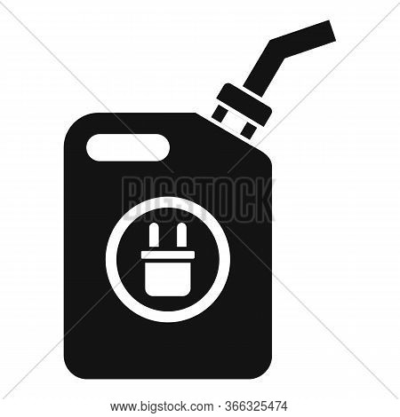 Car Canister Of Energy Icon. Simple Illustration Of Car Canister Of Energy Vector Icon For Web Desig