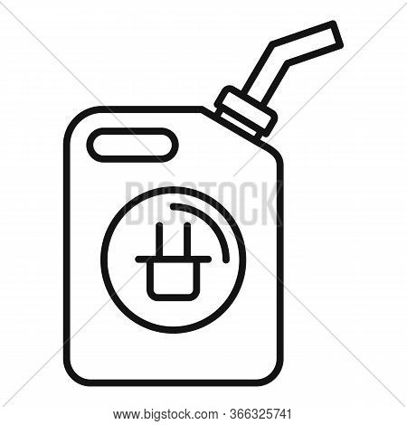 Car Canister Energy Icon. Outline Car Canister Energy Vector Icon For Web Design Isolated On White B