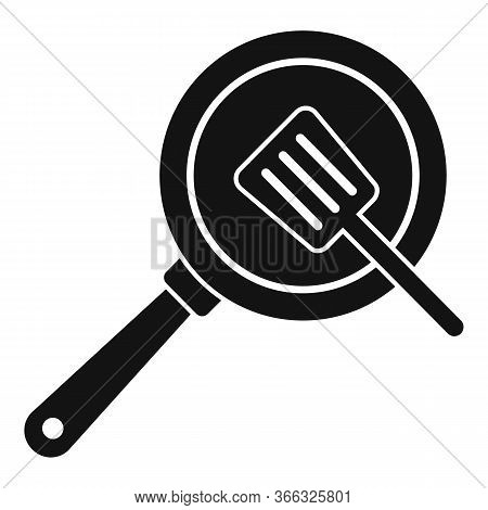 Cooking Frying Pan Icon. Simple Illustration Of Cooking Frying Pan Vector Icon For Web Design Isolat