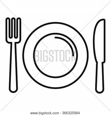 Cookware Icon. Outline Cookware Vector Icon For Web Design Isolated On White Background