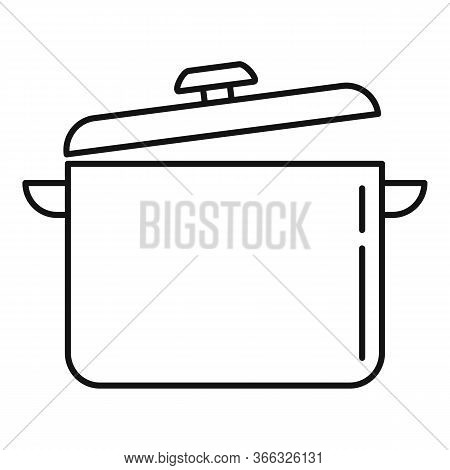 Cooking Pan Icon. Outline Cooking Pan Vector Icon For Web Design Isolated On White Background