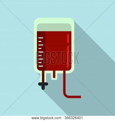 Blood Transfusion Icon. Flat Illustration Of Blood Transfusion Vector Icon For Web Design