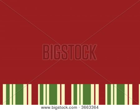 Red Block With Christmas Stripes