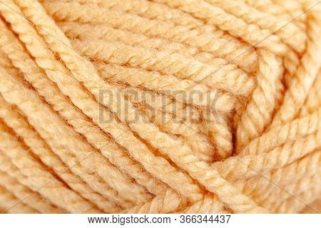 Texture Of Thick Woolen Thread In Skein, Threads Texture
