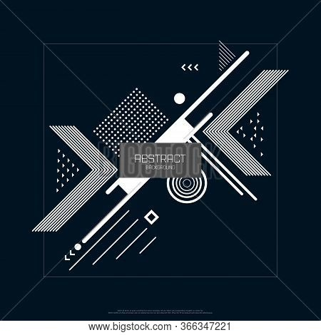 Abstract Design Geometric Element Pattern Design Of Cover Artwork Background. Decorate For Ad, Poste