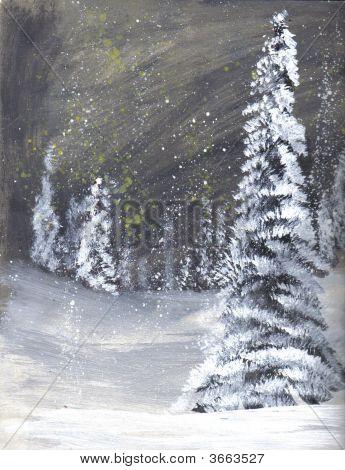 Painting Snowy Night