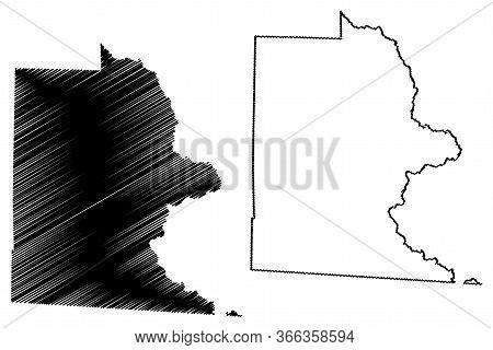 Brooks County, Georgia (u.s. County, United States Of America,usa, U.s., Us) Map Vector Illustration