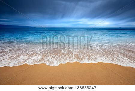Gorgeous beach at Vina Del Mar, Chile poster