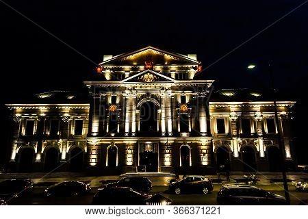 Drobeta Turnu Severin, Romania - September 07, 2019: Palace Of Culture Theodor Costescu, Exterior Ni