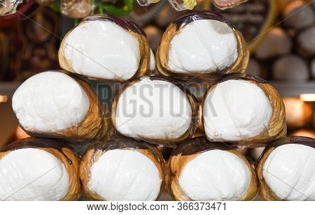 Schaumrollen, Or Schillerlocken, Are An Austrian Confection. They Consist Of A Cone Or Tube Of Pastr