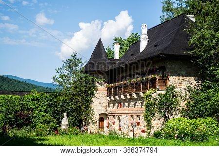 Suceava, Romania: June 20, 2019: Moldovita Monastery Is One Of The Old Monastic Settlements, Located