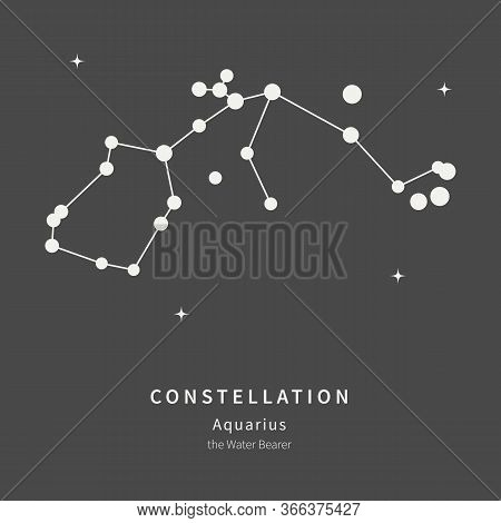 The Constellation Of Aquarius. The Water Bearer - Linear Icon. Vector Illustration Of The Concept Of