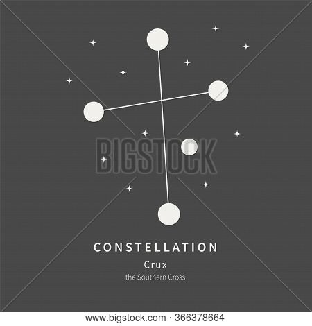 The Constellation Of Crux. The Southern Cross - Linear Icon. Vector Illustration Of The Concept Of A