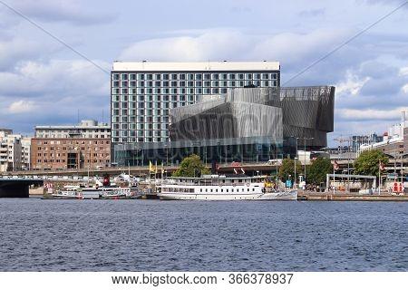 Stockholm, Sweden - August 23, 2018: Stockholm Waterfront Congress Centre In Sweden. Stockholm Is Th