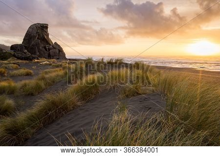 Kissing Rock At Sunset, Gold Beach, Oregon