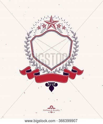 Vector, Graphic, Design, Element,logo, Logotype, Vintage, Old, Heraldry, Heraldic, Emblem, Label, Cr