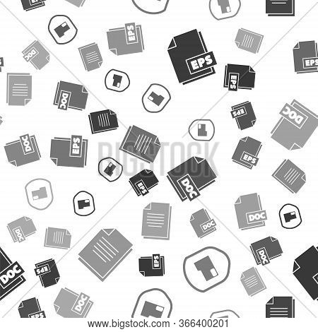 Set Eps File Document, Document Folder Protection, Doc File Document And Document On Seamless Patter