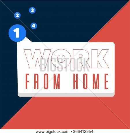 Home Office Poster. Work From Home - Vector