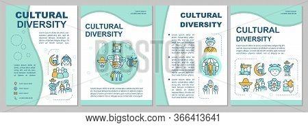 Multicultural Community Brochure Template. Cultural Diversity. Flyer, Booklet, Leaflet Print, Cover