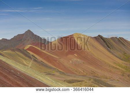 Vinicunca Or Winikunka, Also Called Montaña De Siete Colores, Montaña De Colores Or Rainbow Mountain